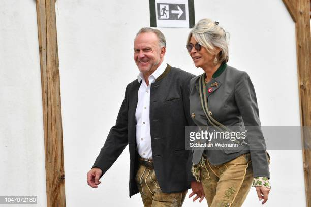 KarlHeinz Rummenigge and his wife Martina Rummenigge attend the Oktoberfest beer festival at Kaefer Wiesenschaenke tent at Theresienwiese on October...