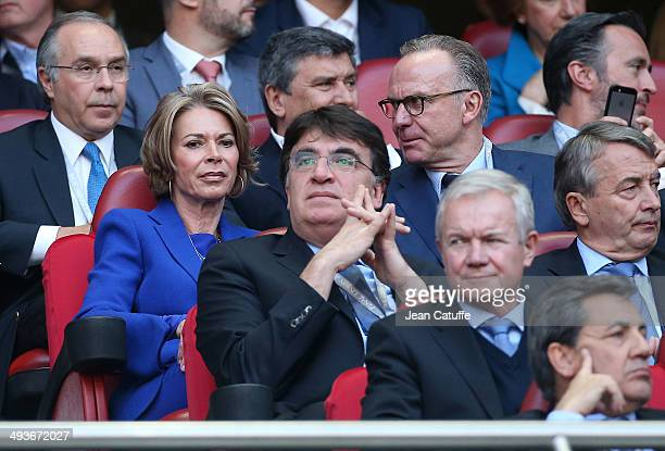 KarlHeinz Rummenigge and his wife Martina Rummenigge attend the UEFA Champions League final between Real Madrid and Atletico de Madrid at Estadio da...