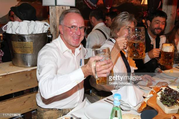 KarlHeinz Rummenigge and his wife Martina Rummenigge during the Oktoberfest 2019 at Kaeferschaenke beer tent / Theresienwiese on September 25 2019 in...