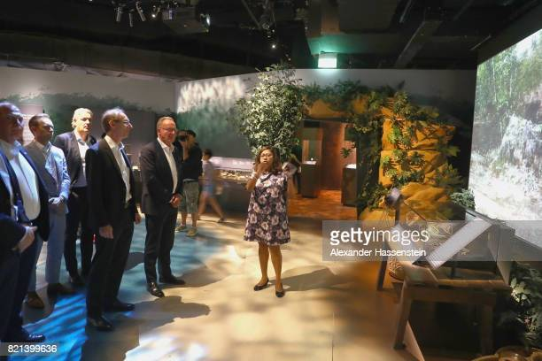 KarlHeinz Rummenigge CEO of Bayern Muenchen visits with Steffen Koch Acting head of Mission German Embassy Singapore the National Museum of Singapore...