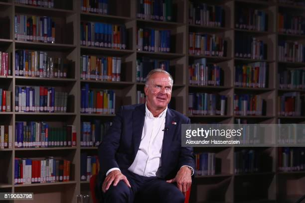 KarlHeinz Rummenigge CEO of FC Bayern Muenchen looks on during an TV Interview during the Audi Summer Tour 2017 on July 19 2017 in Shanghai China