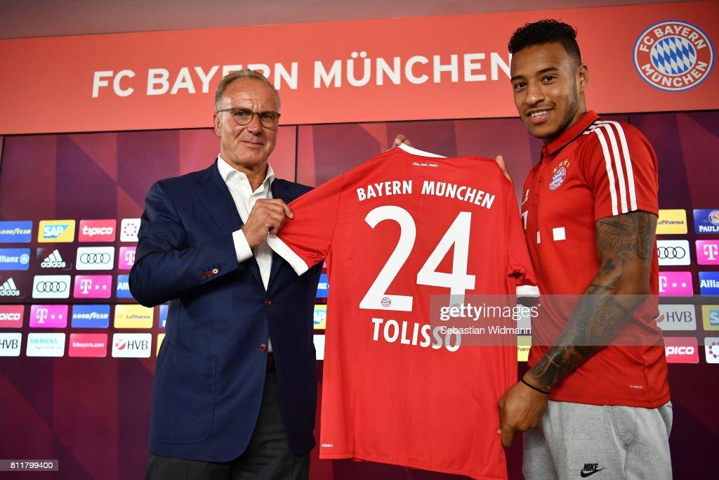 FC Bayern Muenchen Unveils New Signing Corentin Tolisso : News Photo
