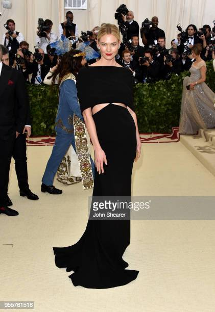 Karli Kloss attends the Heavenly Bodies Fashion The Catholic Imagination Costume Institute Gala at The Metropolitan Museum of Art on May 7 2018 in...