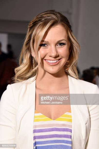 Karlie Hay attends the Anniesa Hasibuan collection during New York Fashion Week The Shows at Gallery 2 Skylight Clarkson Sq on February 14 2017 in...