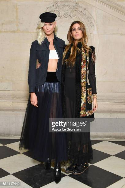 Karlie Kloss and Bianca Brandolini d'Adda attend the Christian Dior show as part of the Paris Fashion Week Womenswear Spring/Summer 2018 on September...