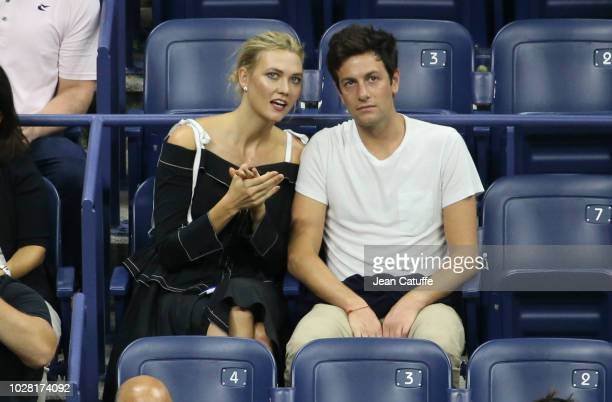 Karlie Kloss and boyfriend Joshua Kushner attend the women's semifinals on day 11 of the 2018 tennis US Open on Arthur Ashe stadium at the USTA...