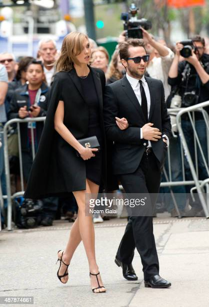 Karlie Kloss and Derek Blasberg attend the memorial service for L'Wren Scott at St Bartholomew's Church on May 2 2014 in New York City Fashion...