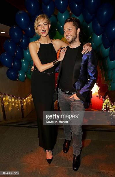 Karlie Kloss and Derek Blasberg attend the The World's First Fabulous Fund Fair hosted by Natalia Vodianova and Karlie Kloss in support of The Naked...