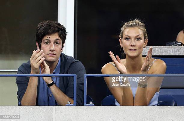 Karlie Kloss and her boyfriend Joshua Kushner attend the 2014 US Open at USTA Billie Jean King National Tennis Center on August 25 2014 in the...