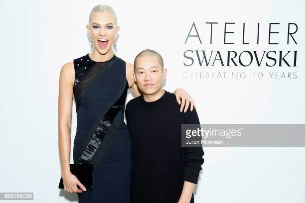 Karlie Kloss and Jason Wu attend the Atelier Swarovski By Jason Wu dinner as part of the Paris Fashion Week Womenswear Spring/Summer 2018 on...