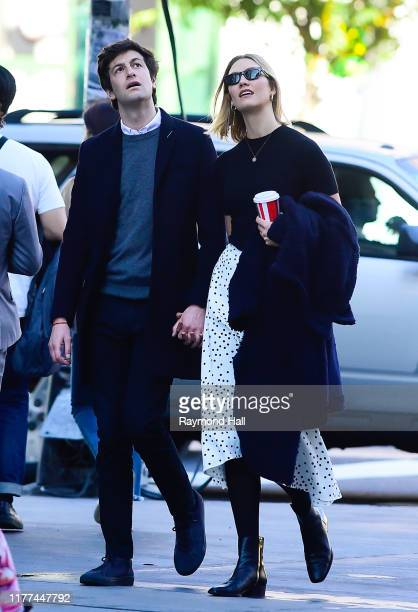 Karlie Kloss and Josh Kushner are seen walking in SoHo on October 21 2019 in New York City