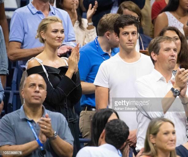 Karlie Kloss and Joshua Kushner at Day 11 of the US Open held at the USTA Tennis Center on September 6, 2018 in New York City.
