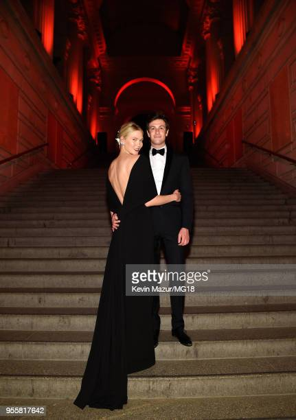 Karlie Kloss and Joshua Kushner attend the Heavenly Bodies Fashion The Catholic Imagination Costume Institute Gala at The Metropolitan Museum of Art...