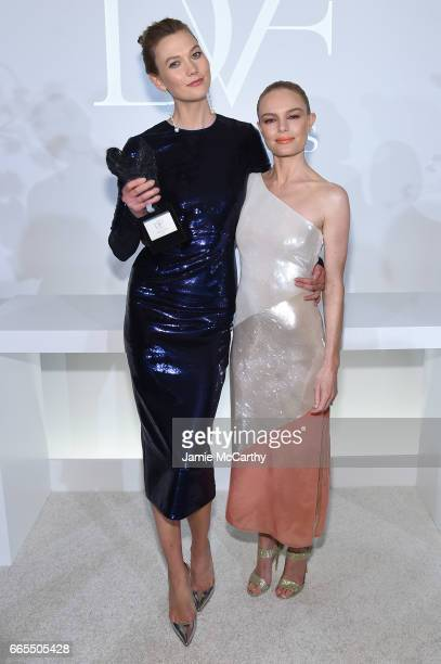Karlie Kloss and Kate Bosworth attend the 2017 DVF Awards at United Nations Headquarters on April 6 2017 in New York City