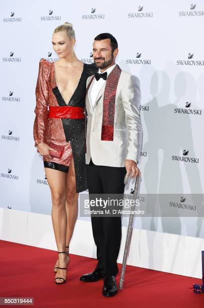 Karlie Kloss and Robert Buchbauer attend Swarovski Crystal Wonderland Party on September 20 2017 in Milan Italy