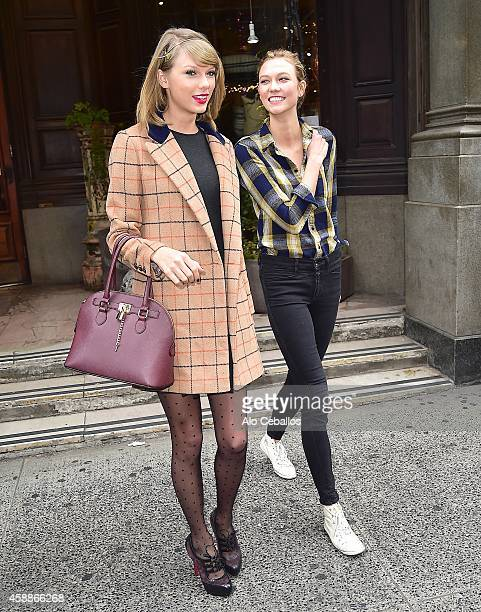 Karlie Kloss and Taylor Swift are seen in the Meat Packing District on November 12 2014 in New York City