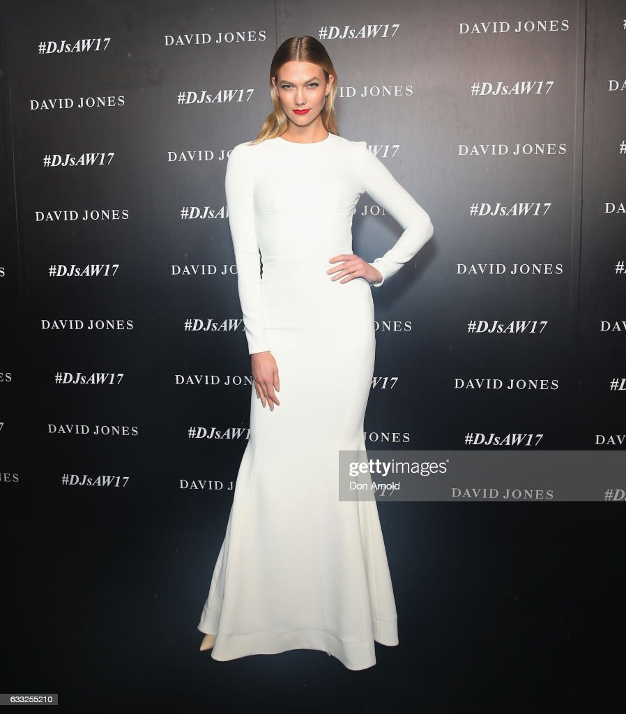 Karlie Kloss arrives ahead of the David Jones Autumn Winter 2017 Collections Launch at St Mary's Cathedral Precinct on February 1, 2017 in Sydney, Australia.
