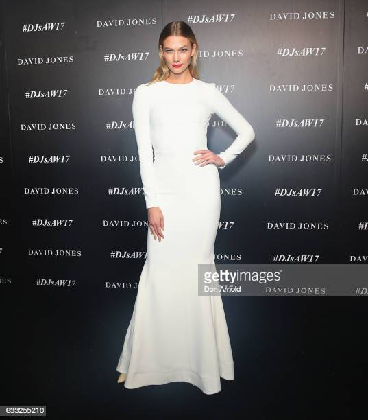 Karlie Kloss arrives ahead of the David Jones Autumn Winter 2017 Collections Launch at St Mary's Cathedral Precinct on February 1 2017 in Sydney...