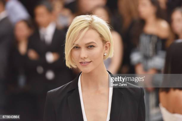 Karlie Kloss arrives at 'Rei Kawakubo/Comme des Garcons Art Of The InBetween' Costume Institute Gala at The Metropolitan Museum on May 1 2017 in New...