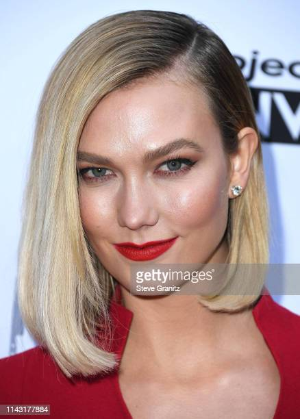 Karlie Kloss arrives at the Bravo's Top Chef And Project Runway A Night Of Food And Fashion FYC Red Carpet Event at Vibiana on April 16 2019 in Los...
