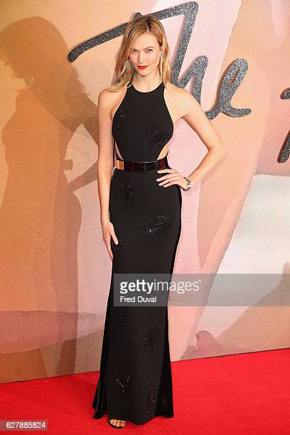 Karlie Kloss arrives at the Fashion Awards 2016 on December 5 2016 in London United Kingdom