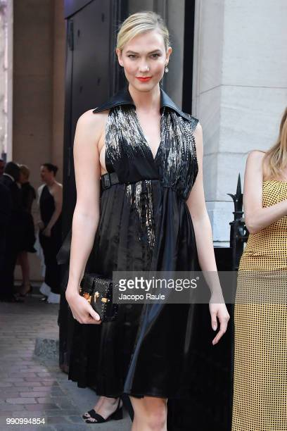 Karlie Kloss arrives at the 'Vogue Foundation Dinner 2018' at Palais Galleria on July 3 2018 in Paris France