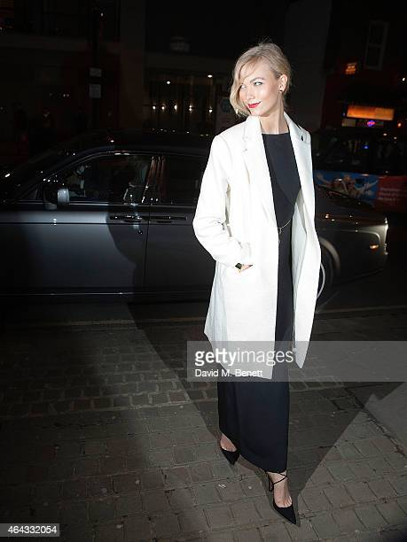 Karlie Kloss arrives in a RollsRoyce at Naked Heart Foundation's Fabulous Fund Fair London at The Roundhouse on February 24 2015 in London England