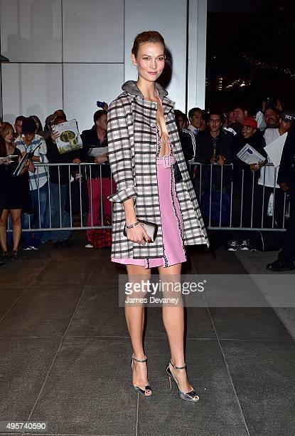 Karlie Kloss arrives to Museum of Modern Art on November 4, 2015 in New York City.