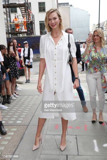 Karlie Kloss arriving at Vogue House for the Vogue August Issue Live Signing on July 17 2019 in London England