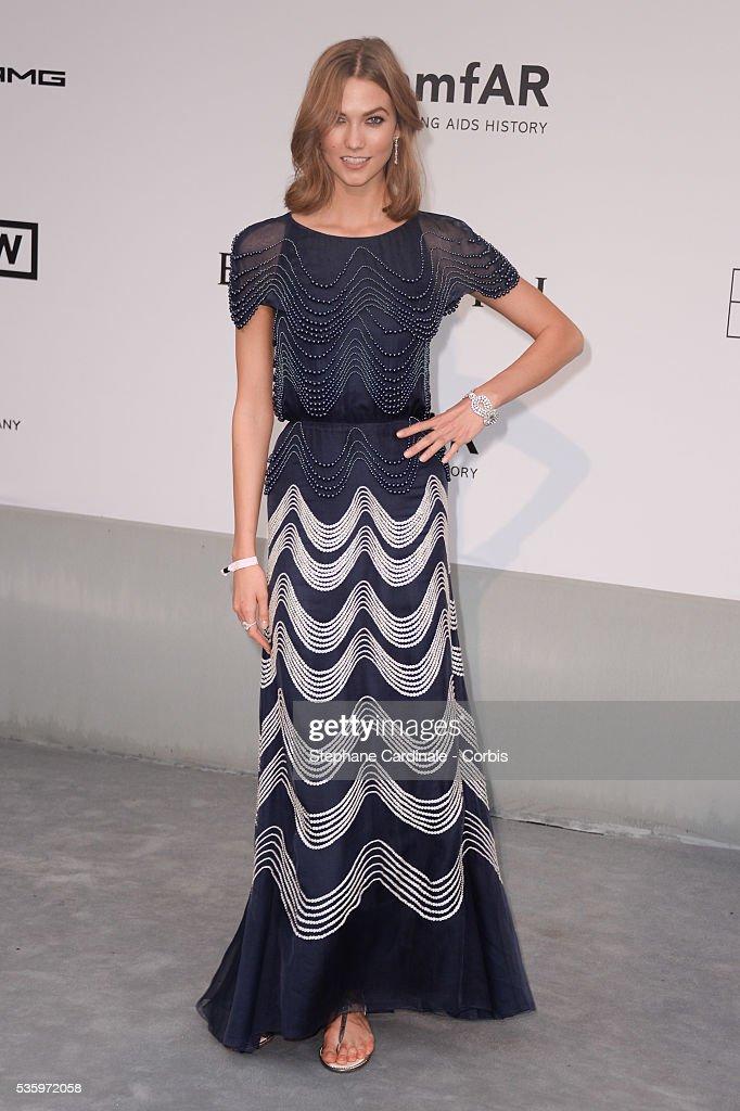 Karlie Kloss at the amfAR's 21st Cinema Against AIDS Gala at Hotel du Cap-Eden-Roc during the 67th Cannes Film Festival