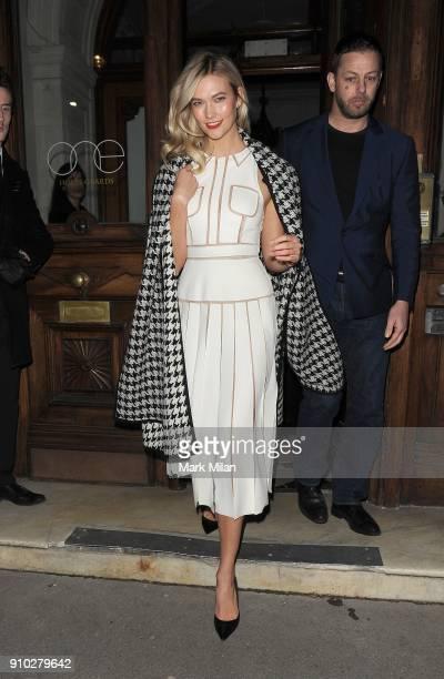 Karlie Kloss attending the Karlie Kloss GOOD GIRL ft Carolina Herrera perfume launch on January 25 2018 in London England
