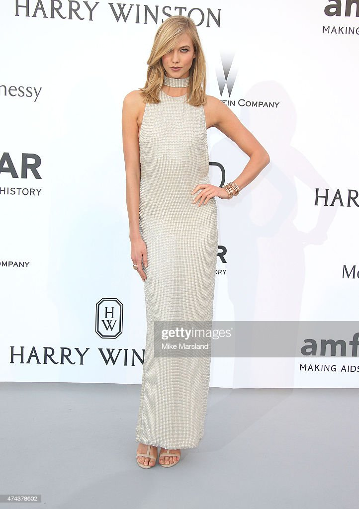 Karlie Kloss attends amfAR's 22nd Cinema Against AIDS Gala, Presented By Bold Films And Harry Winston at Hotel du Cap-Eden-Roc on May 21, 2015 in Cap d'Antibes, France.