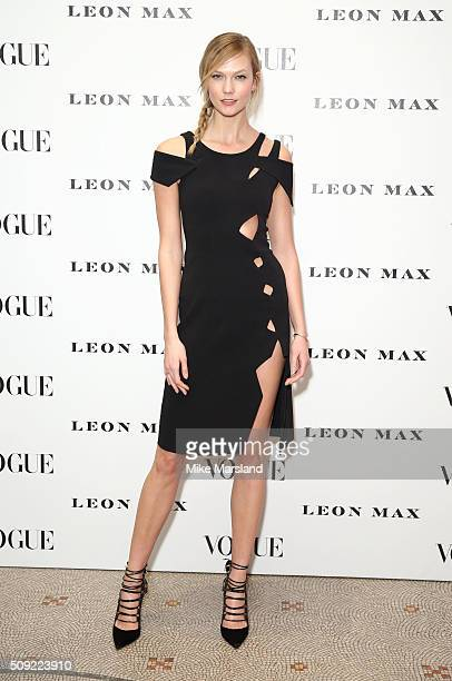 Karlie Kloss attends at Vogue 100 A Century Of Style atNational Portrait Gallery on February 9 2016 in London England