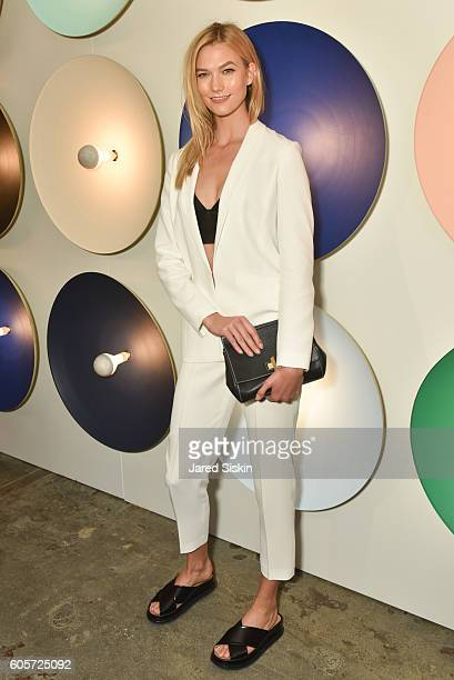 Karlie Kloss attends Boss Womenswear Front Row September 2016 New York Fashion Week at Skylight Clarkson North on September 14 2016 in New York City