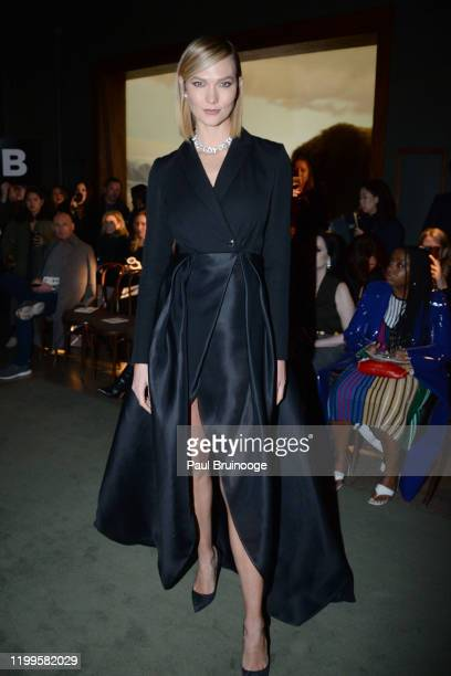 Karlie Kloss attends Brandon Maxwell AW/20 Fashion Show on February 8 2020 at American Museum of Natural History in New York City