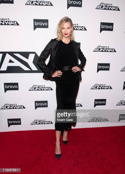 "Karlie Kloss attends Bravo's ""Project Runway"" New York Premiere at Vandal on March 07, 2019 in New York City."