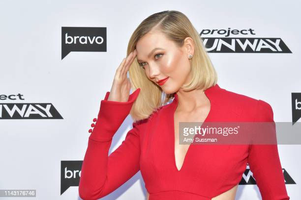 Karlie Kloss attends Bravo's Top Chef and Project Runway A Night of Food and Fashion FYC Red Carpet Event at Vibiana on April 16 2019 in Los Angeles...