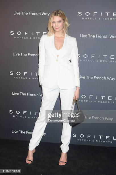 Karlie Kloss attends La Nuit by Sofitel Party with CR Fashion Book at Pavillon Cambon on February 28 2019 in Paris France