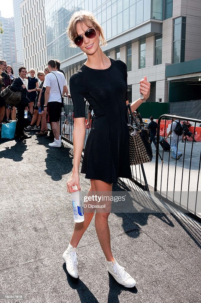 Karlie Kloss attends Mercedes-Benz Fashion Week Spring 2014 at Lincoln Center for the Performing Arts on September 11, 2013 in New York City.