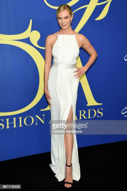 Karlie Kloss attends the 2018 CFDA Fashion Awards Winners Walk at Brooklyn Museum on June 4 2018 in New York City
