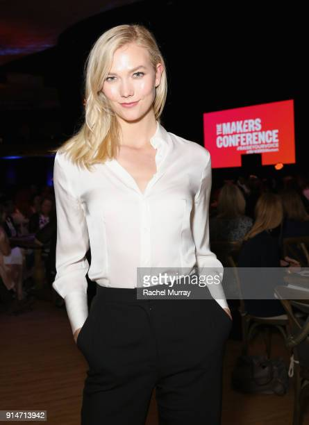 Karlie Kloss attends The 2018 MAKERS Conference at Hollywood Palladium on February 5 2018 in Los Angeles California