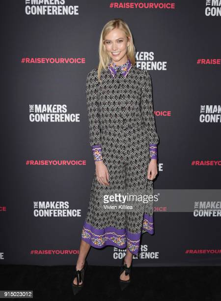 Karlie Kloss attends The 2018 MAKERS Conference at NeueHouse Hollywood on February 6 2018 in Los Angeles California