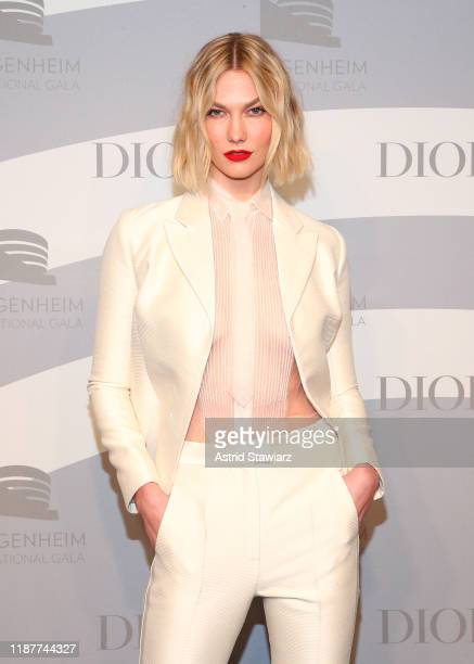 Karlie Kloss attends the 2019 Guggenheim International Gala at Solomon R Guggenheim Museum on November 14 2019 in New York City