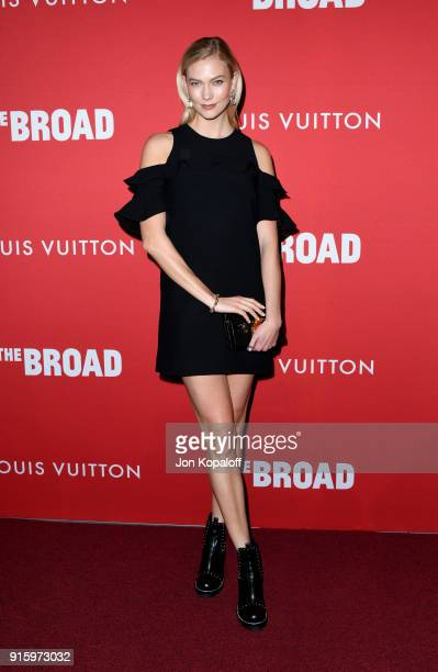 Karlie Kloss attends The Broad and Louis Vuitton's celebration of Jasper Johns 'Something Resembling Truth' at The Broad on February 8 2018 in Los...