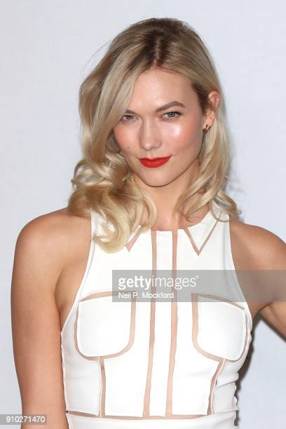 Karlie Kloss attends the Carolina Herrera fragrance launch of 'Good Girl' at 1 Horse Guards Avenue on January 25 2018 in London England