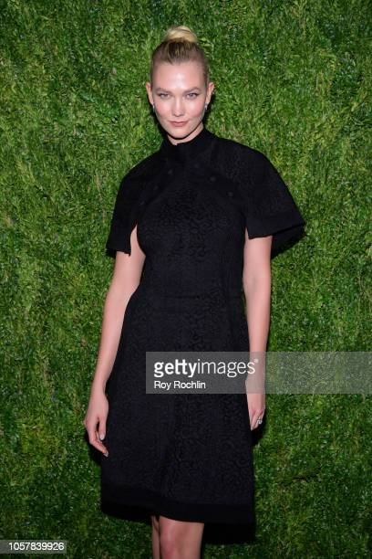 Karlie Kloss attends the CFDA / Vogue Fashion Fund 15th Anniversary Event at Brooklyn Navy Yard on November 5 2018 in Brooklyn New York