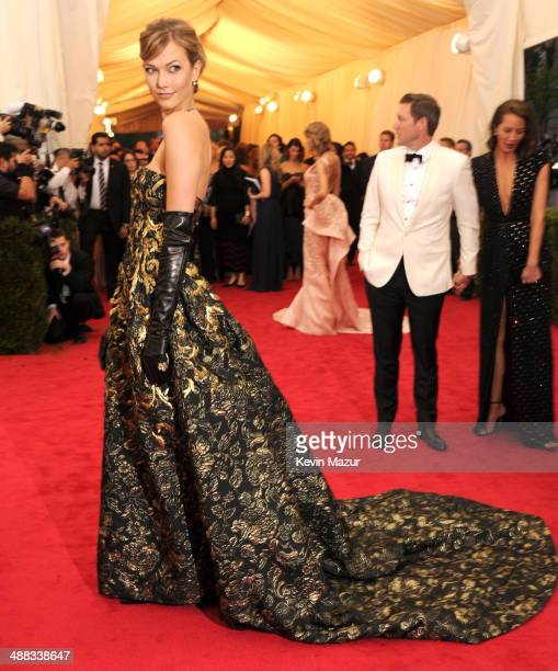 """Karlie Kloss attends the """"Charles James: Beyond Fashion"""" Costume Institute Gala at the Metropolitan Museum of Art on May 5, 2014 in New York City."""
