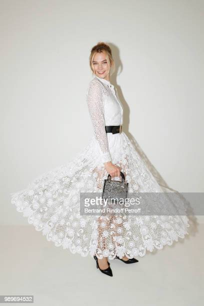 Karlie Kloss attends the Christian Dior Haute Couture Fall Winter 2018/2019 show as part of Paris Fashion Week on July 2 2018 in Paris France