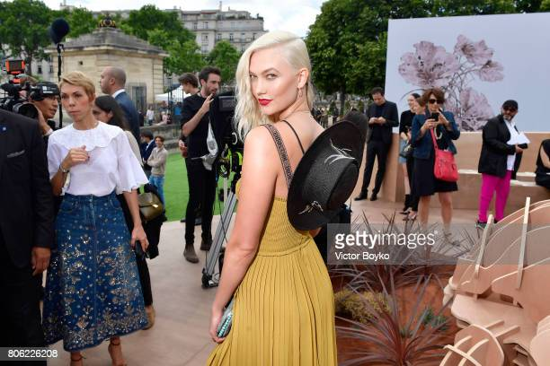 Karlie Kloss attends the Christian Dior Haute Couture Fall/Winter 20172018 show as part of Haute Couture Paris Fashion Week on July 3 2017 in Paris...
