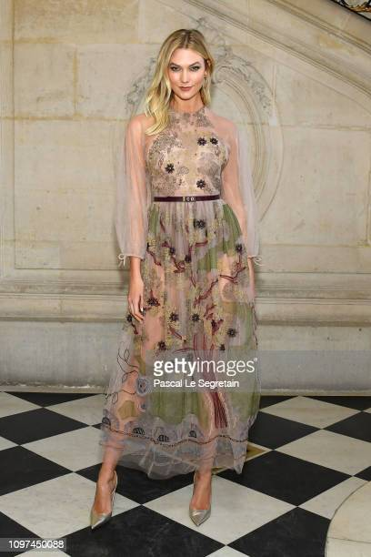 Karlie Kloss attends the Christian Dior Haute Couture Spring Summer 2019 show as part of Paris Fashion Week on January 21 2019 in Paris France